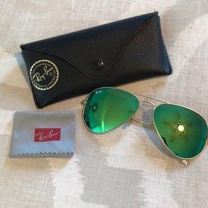 Ray-Ban Aviator Flash Lenses in Green Flash